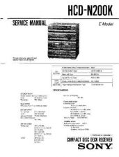 Buy Sony HCD-N200 Service Manual by download Mauritron #241227