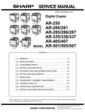 Buy Sharp AR-505 Service Manual by download Mauritron #230995