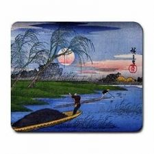 Buy Ando Hiroshige Men Poling Boats Japanese Art Computer Mouse Pad