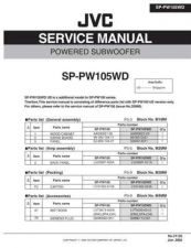 Buy JVC SP-PW105WD Service Manual Schematic Circuit. by download Mauritron #272381