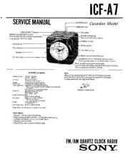 Buy Sony ICF-A7 Service Manual. by download Mauritron #241511