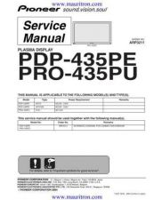 Buy Pioneer PDP-434PU-TUCKXC[2[] Service Manual by download Mauritron #235002