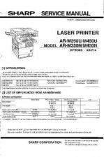 Buy Sharp AR-M350U-350N-450U-450N Service Manual by download Mauritron #208324