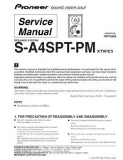 Buy Pioneer S-A4SPT-PM Manual by download Mauritron #228138