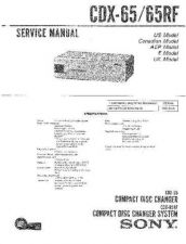 Buy Sony CDX-646646X Service Information by download Mauritron #237536