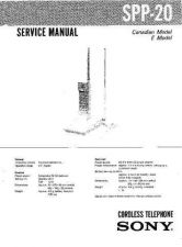 Buy Sony SPP-2000 Service Manual. by download Mauritron #244367