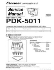 Buy Pioneer PDK-50HW3 Service Manual by download Mauritron #234694