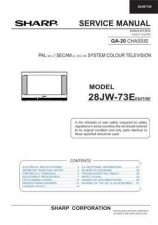 Buy Sharp 28JW73E Service Manual by download Mauritron #207558