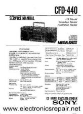 Buy Sony CFD-515 Service Manual by download Mauritron #244157