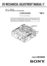 Buy Sony DV MECHANICAL ADJUSTMENT MANUAL IV Service Manual by download Mauritron #2