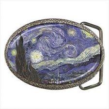 Buy The Starry Night Vincent Van Gogh Art Belt Buckle NEW