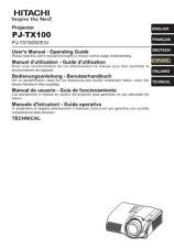 Buy Hitachi PJ-LC9 IT Manual by download Mauritron #225431