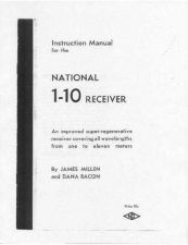 Buy NATIONAL 1-10 RECEIVER OPERATING Technical Information by download #115558