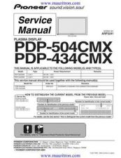 Buy Pioneer PDP-436SXE-YVIXK51[2] Service Manual by download Mauritron #235116