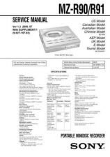 Buy Sony MZ-R700 a service manual Technical Manual. by download Mauritron #243188