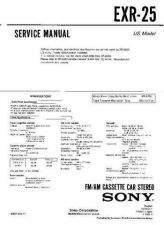 Buy Sony EXR-25 Service Manual by download Mauritron #240662