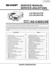Buy Sharp XG-NV3XU 1 Service Manual by download Mauritron #207670