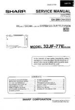 Buy Sharp 32JF77E-ERU-ESE (1) Service Manual by download Mauritron #207658