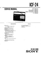 Buy Sony ICF-24 Service Manual. by download Mauritron #241493