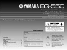 Buy Yamaha EQ-550 Operating Guide by download Mauritron #247889