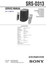 Buy Sony SRS-D313 Service Information by download Mauritron #238087