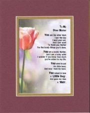 Buy Poem For Mothers - To My Other Mom (from Daughter-in-Law) 11x14 DoubleMatting