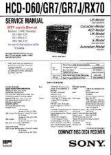 Buy SONY HCDD60 HCDGR7 HCDGR7J HCDRX70 Technical Info by download #104734