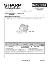 Buy SHARP FAX255 TECHNICAL BULLETIN by download #104423