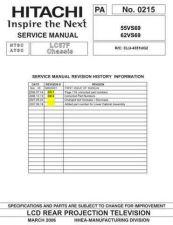 Buy Hitachi 62VS69 Service Manual by download Mauritron #260405