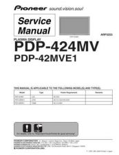 Buy Pioneer PDP-42A3HD-KUCXKA (3) Service Manual by download Mauritron #234853