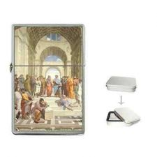 Buy The School Of Athens Philosophers Art Cigarette Flip Top Lighter