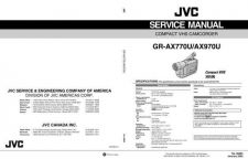 Buy JVC GR-AX970UM Service Manual Schematic Circuit. by download Mauritron #270524