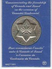 Buy Israel Canada Friendship State Medal 5727-1967