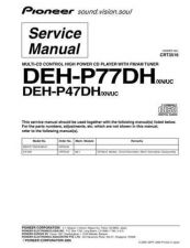 Buy Pioneer DEH-P77DH-1 Technical Manual by download Mauritron #232559