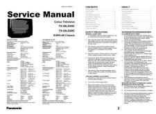Buy Panasonic TX-25LD20C Colour TV Service Manual by download Mauritron #235390