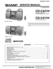 Buy Sharp CDC411-421H (1) Service Manual by download Mauritron #208489