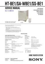 Buy Sony HT-BE1SA-WBE1SS-BE1 Service Manual by download Mauritron #241396