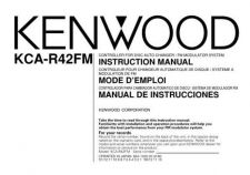 Buy Kenwood KCA-R70FM Operating Guide by download Mauritron #221434