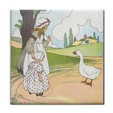 Buy Goosey Goosey Gander Rhyme Vintage Art Ceramic Tile