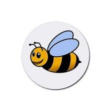 Buy Bumblebee Bee Set Of 4 Round Rubber Drink Coasters