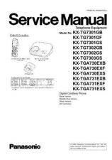 Buy Panasonic KX-TG7301SLS KX-TGA730EXS KX-TGA731EXS by download Mauritron #267417