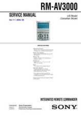 Buy Sony RM-AV2100B Technical Manual. by download Mauritron #243630