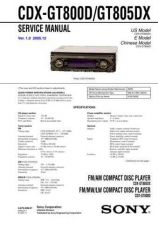 Buy Sony CDX-GT800DGT805DX Service Manual by download Mauritron #238590