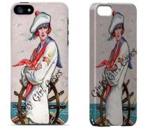 Buy Vintage Tough Cell Phone Case.Sailor Girl. I Phone 4,I 5/5C, Galaxy 3 and 4