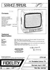 Buy FIDELITY B1014S COLOUR TV SERVICE (5637) by download #108207