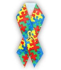 Buy Autism Awareness Puzzle Piece Satin Pin Ribbon Pin