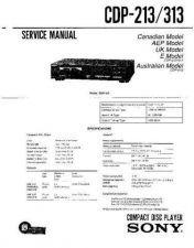 Buy Sony CDP-213-313 Service Manual by download Mauritron #237212