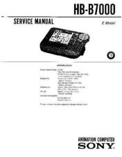 Buy Sony HB-B7000 Service Manual by download Mauritron #240854