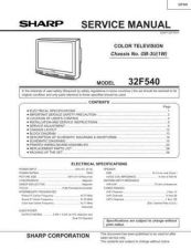 Buy Sharp 32F540 Service Manual by download Mauritron #207628