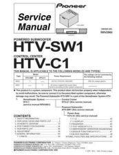 Buy Pioneer HTV-C1[-] Service Manual by download Mauritron #234608